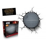 3D Light Fx 3DFX-02065 Star Wars Ep7 Morte Lampada LED con Timer, Plastica, Grigio