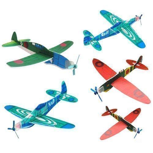 12 Aeroplani Volanti Alianti Assortiti Per Gioco Bimbi Giochi a Premi Calze Regalo Accessotech