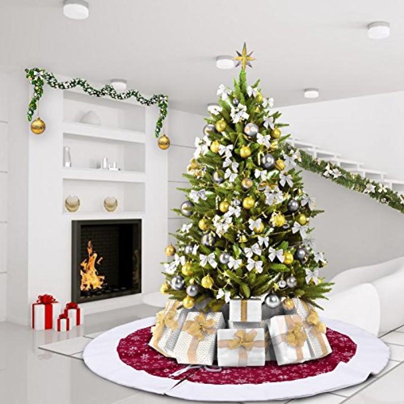 aerwo 48inch bianca fiocco di neve pannello esterno albero