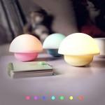 AFAITH Lampada LED,Luce Notturna a Forma di Fungo,Touch Sensore Dimmerabile con 3 Modalit & 7 Colori Lampadina per Asilo,Camera da Letto,Ristorante...