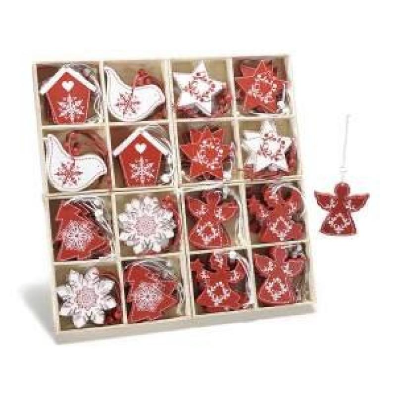 Decorazione natalizie albero di natale in legno bianco e - Decorazioni in legno per natale ...