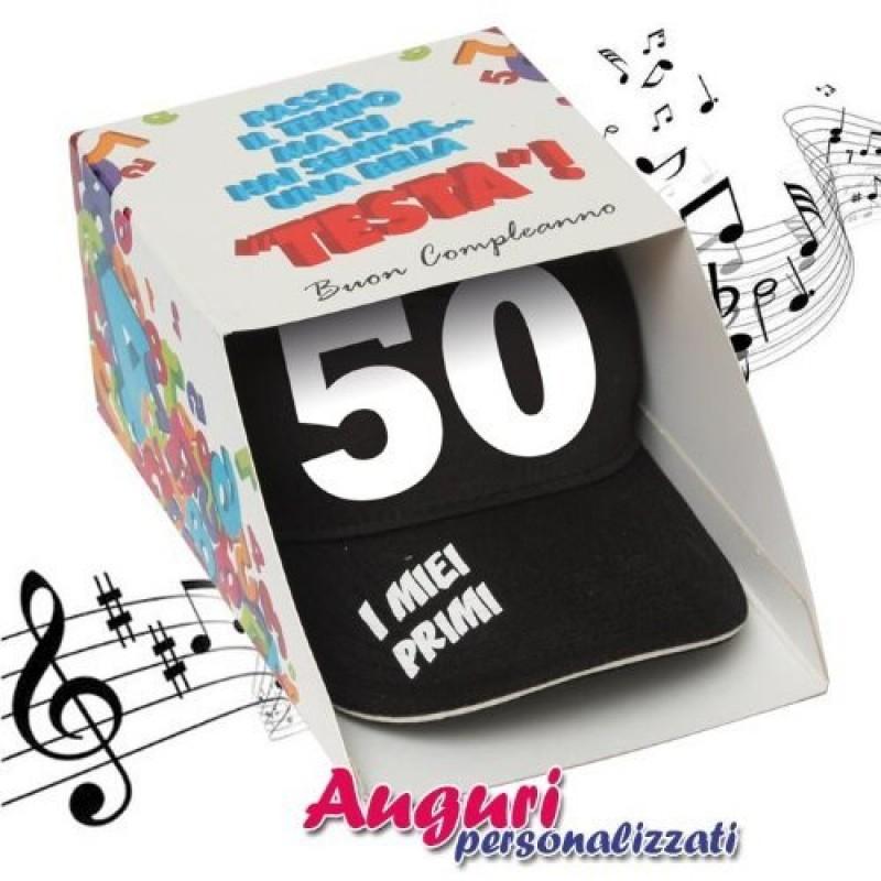 Super Musicale compleanno 50 anni regalo divertente VB41