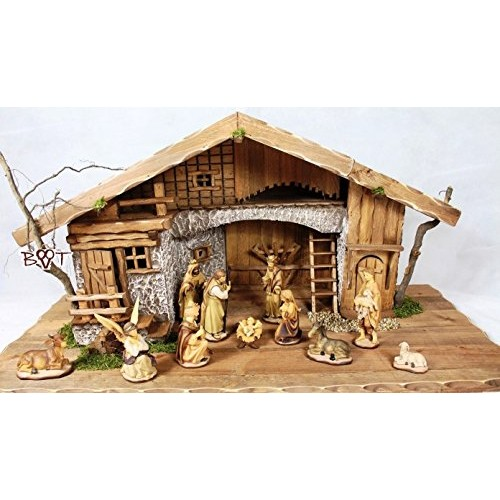 ... per presepe, con statuine e accessori, in legno trattato e dipinto