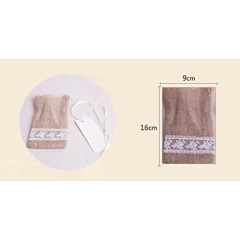 Matrimonio Tema Natura : Pz sacchetti sacchetto rustici iuta naturale in lino con