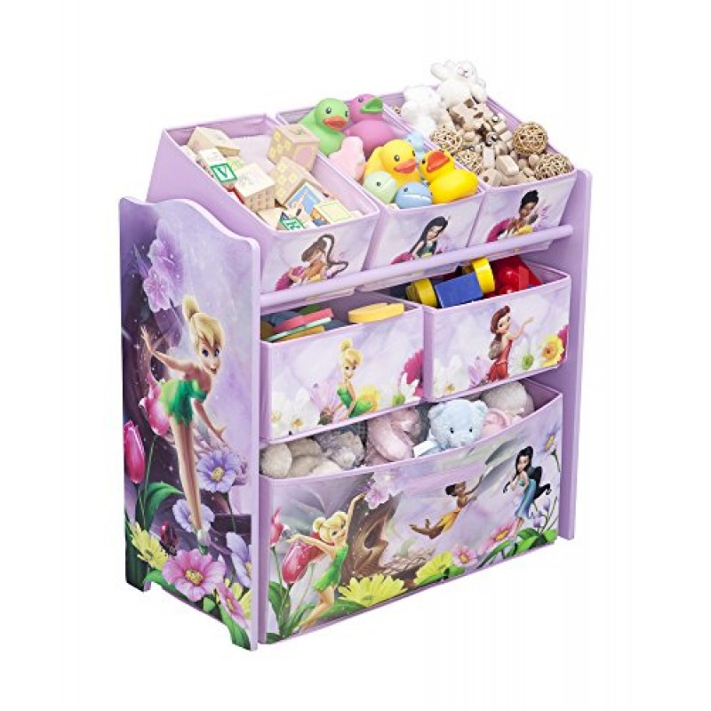 disney fairies contenitore in legno per giocattoli con 6 scatole. Black Bedroom Furniture Sets. Home Design Ideas