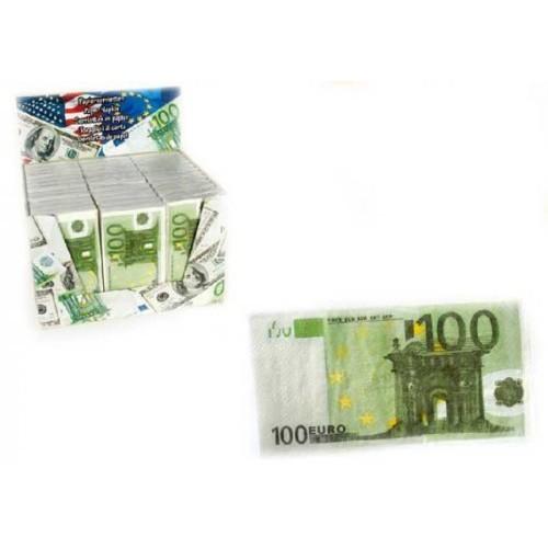 10 TOVAGLIOLI DI CARTA A FORMA DI BANCONOTA DA 100 EURO !! GADGET IDEA REGALO DIVERTENTE