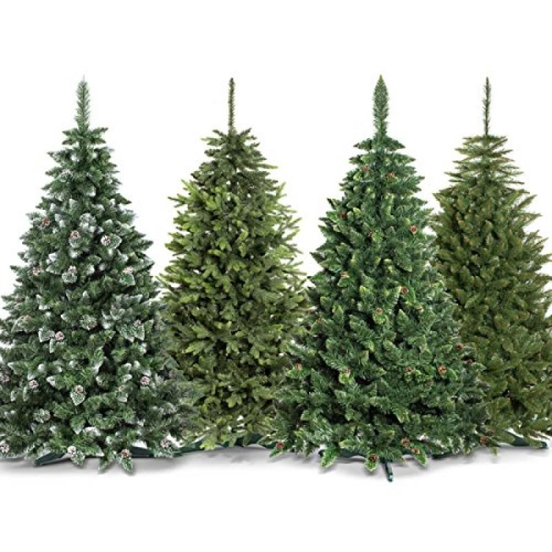 Premium albero di natale artificiale 150cm natur bianco for Alberi natale artificiali