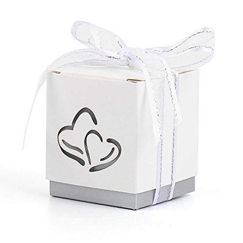 12 x scatole porta caramelle bomboniera argento per - Scatole porta viti ...