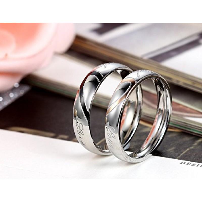 Preferenza anello donna 4mm Bands argento oro,uomo e donna completo un cuore  YX92