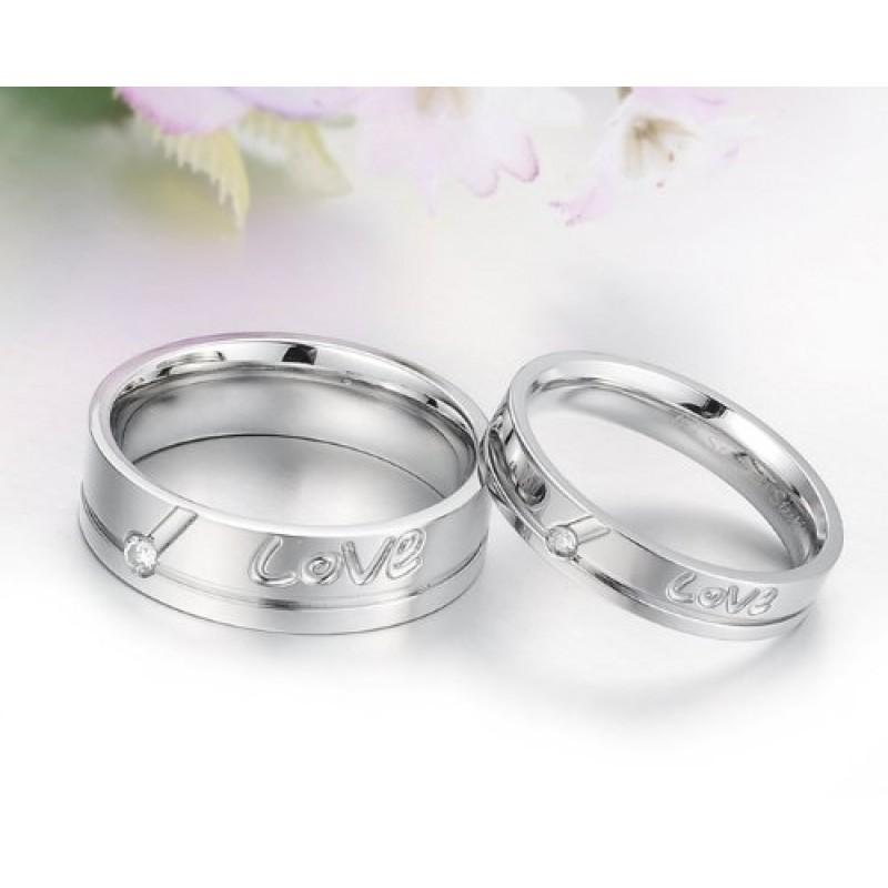 """Super Gioielli anello da uomo donna 4mm acciaio inossidabile """"Love  AP13"""