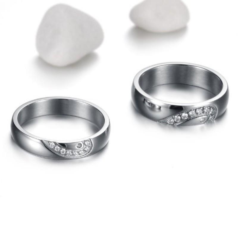 Eccezionale Gioielli anello da uomo donna suo 6MM acciaio inossidabile cuore  AF95