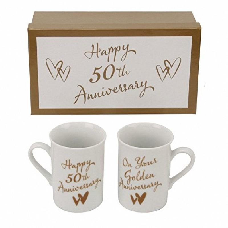 Juliana cm232 set 2 tazze per l 39 anniversario dei 50 anni for Regali per anniversario di matrimonio