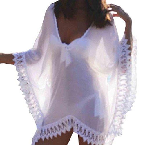 Jxloulan abito da spiaggia delle donne v collo di estate - Donne senza costume da bagno ...