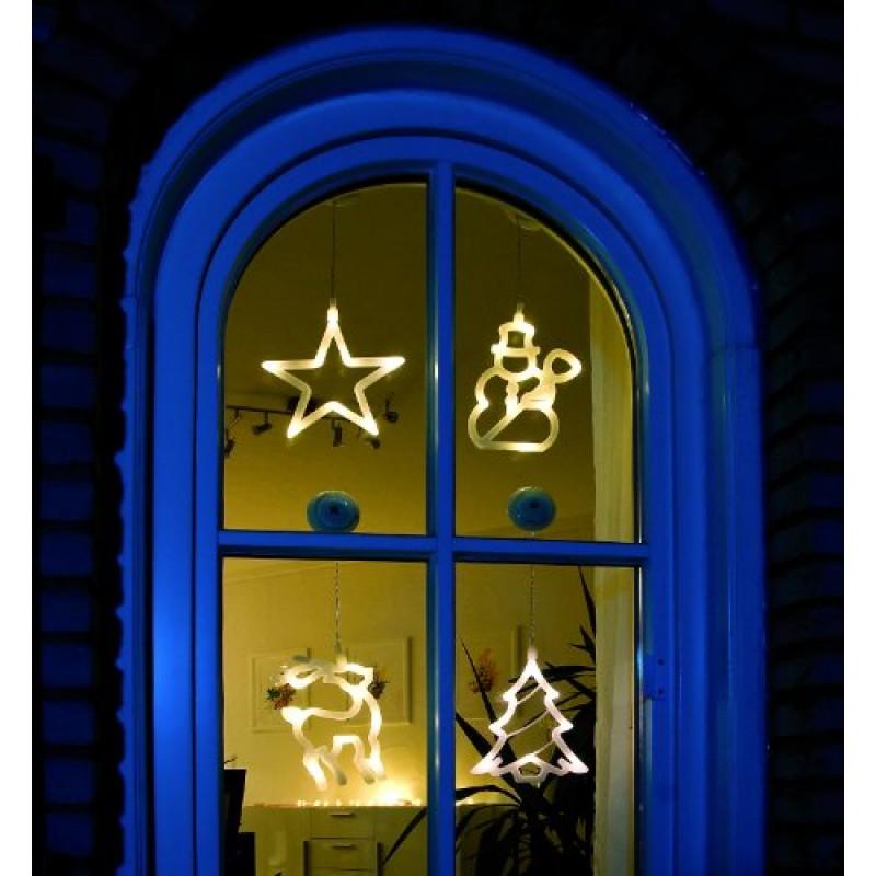 Konstsmide decorazione per finestra stella di natale - Addobbi finestra natale ...