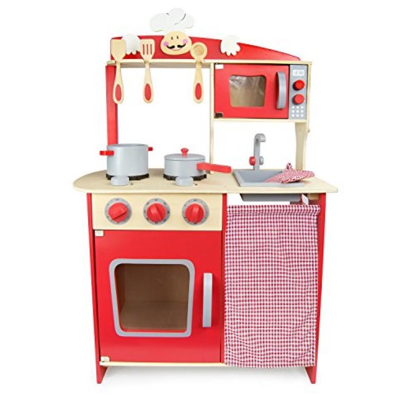 leomark cucina dell chef giocattolo in legno cucina