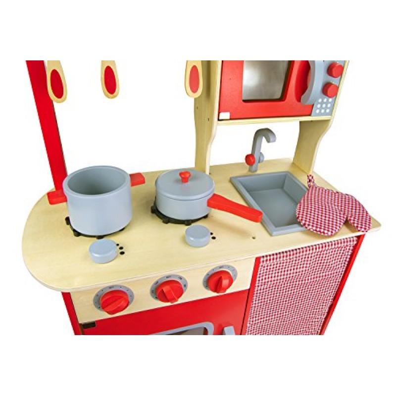 Leomark cucina dell chef giocattolo in legno cucina - Cucina in legno per bambini ikea ...