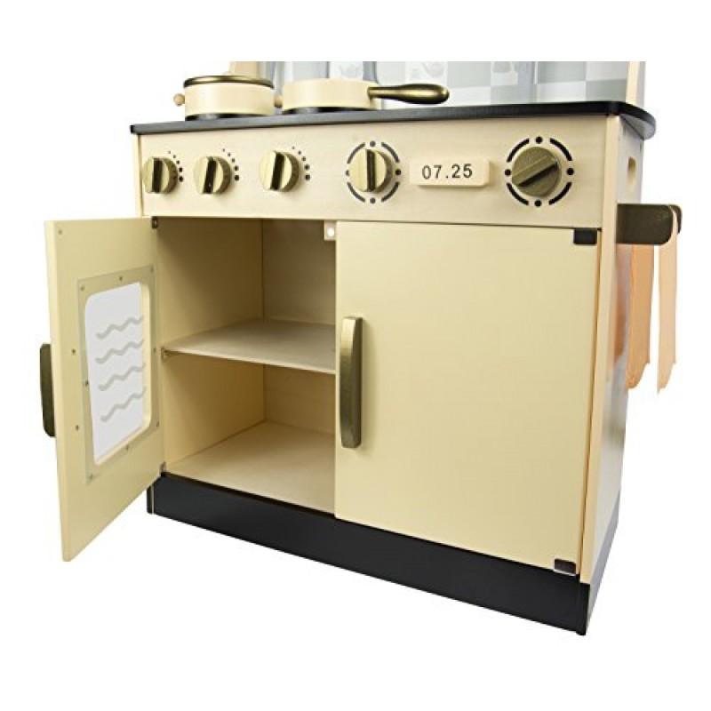 Leomark cucina vintage giocattolo in legno cucina - Cucine per bambini in legno ...