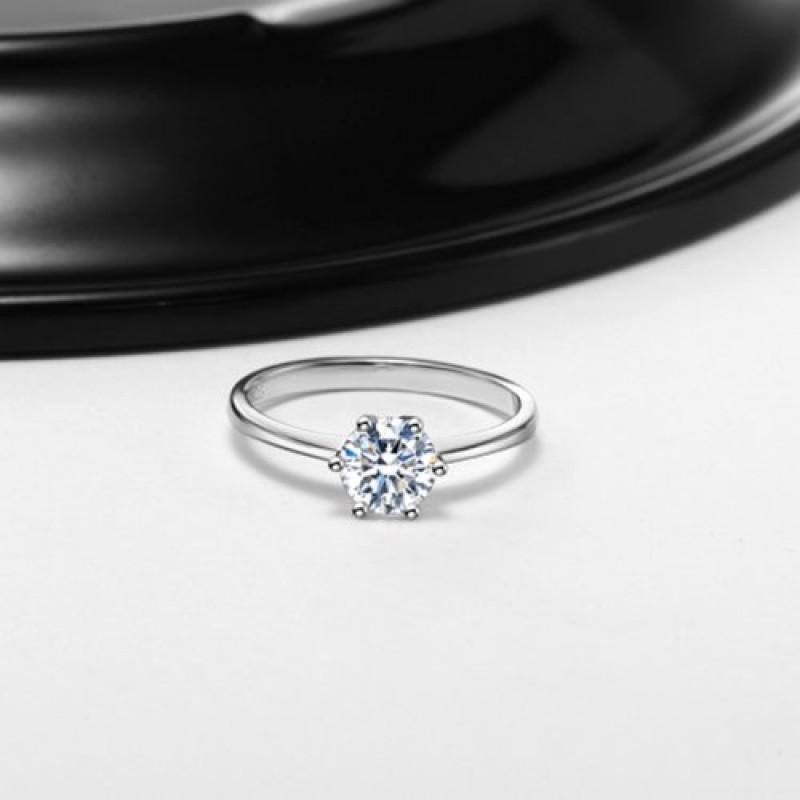 Super Argento-Anello di Fidanzamento Donna Argento 925 Sterling  PR54