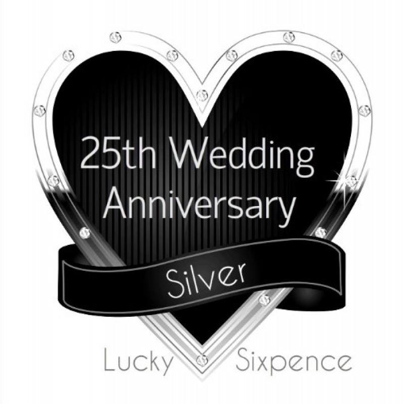 Affordable oaktree gifts pence in argento per regalo di for Regali per 25 anni di matrimonio