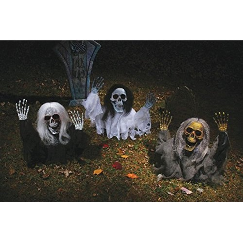 Decorazione Halloween da giardino:scheletro che esce dal terreno 53cm ...