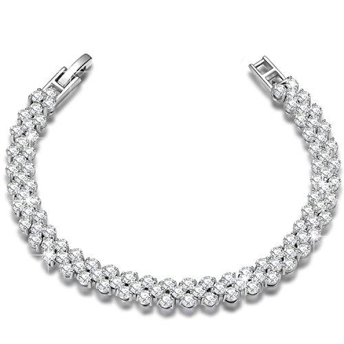 """【Ottimo Regalo】P&M """"Amore Puro"""" 925 Sterling Silver Bracciale donna-argento cristallo austriaco zirconia chiaro-regali compleanno san valentino n..."""