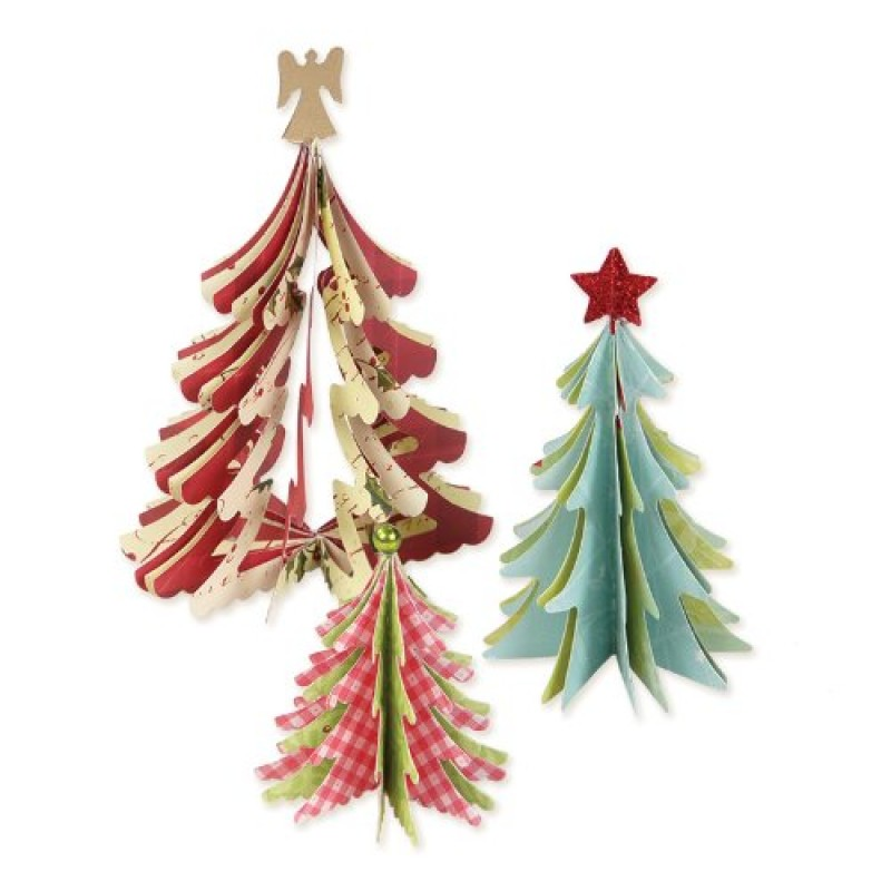 Sizzix Decorazioni Natalizie Alberi Di Natale 3d