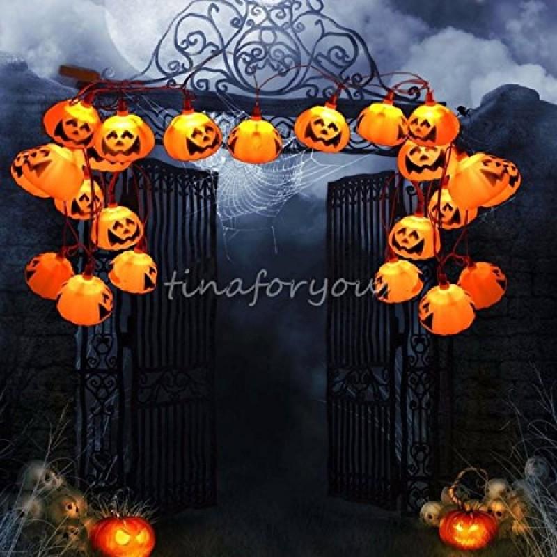 Solmore 16 pcs led stringa luci di zucca halloween for Decorazione di halloween