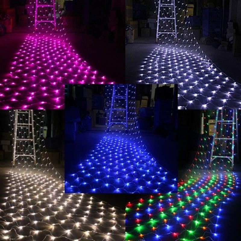 SOLMORE Catena Luminosa Tenda Luminosa Luci Natalizie 300 LED 4.2M X 1 ...