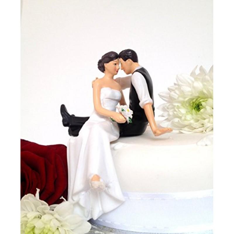 statuetta di matrimonio sposi seduti in piedi