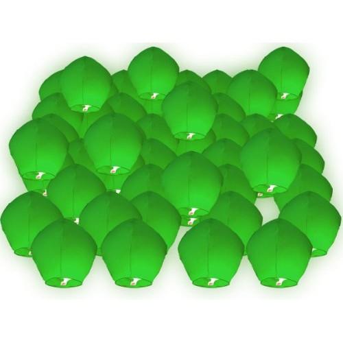 50 PZ Lanterne cinesi volanti verdi Lanterna Cinese Volante del cielo verde regalo di compleanno matrimonio romantico serata romantica uomo donna s...