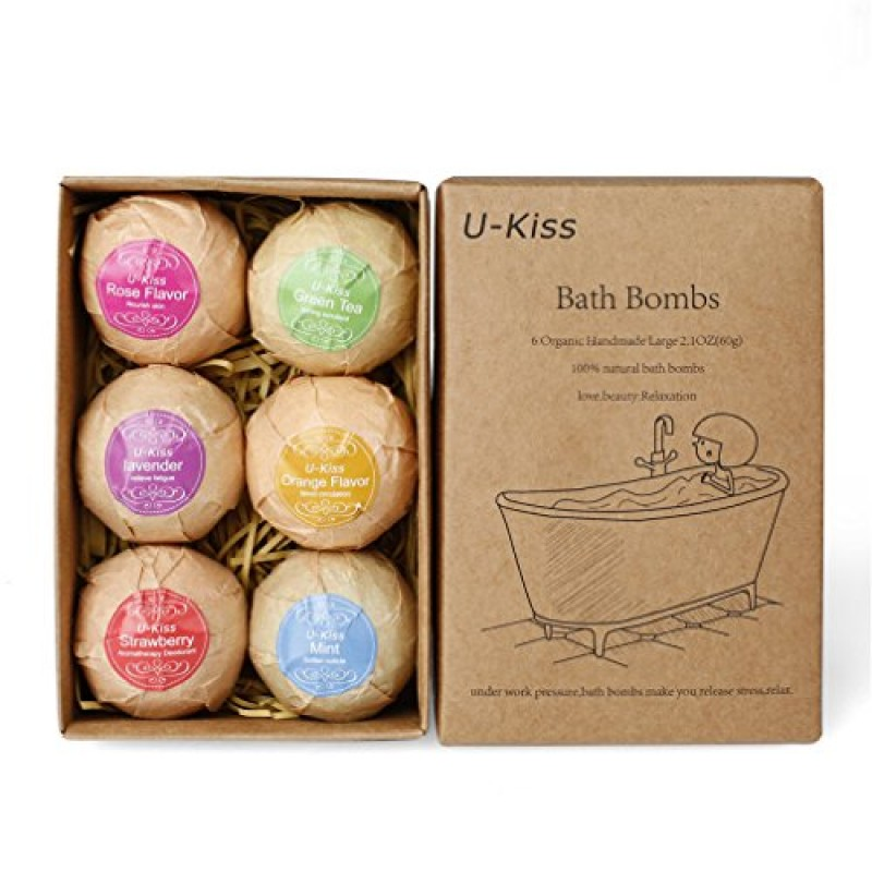 U kiss 6 pcs set da bagno bomba regalo tutto naturale for Regali di compleanno per lei