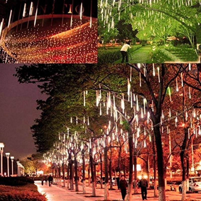 victorstar @ 30cm 10 tubi 360 led luci pioggia di meteore / luci ... - Illuminazione Alberi Natale