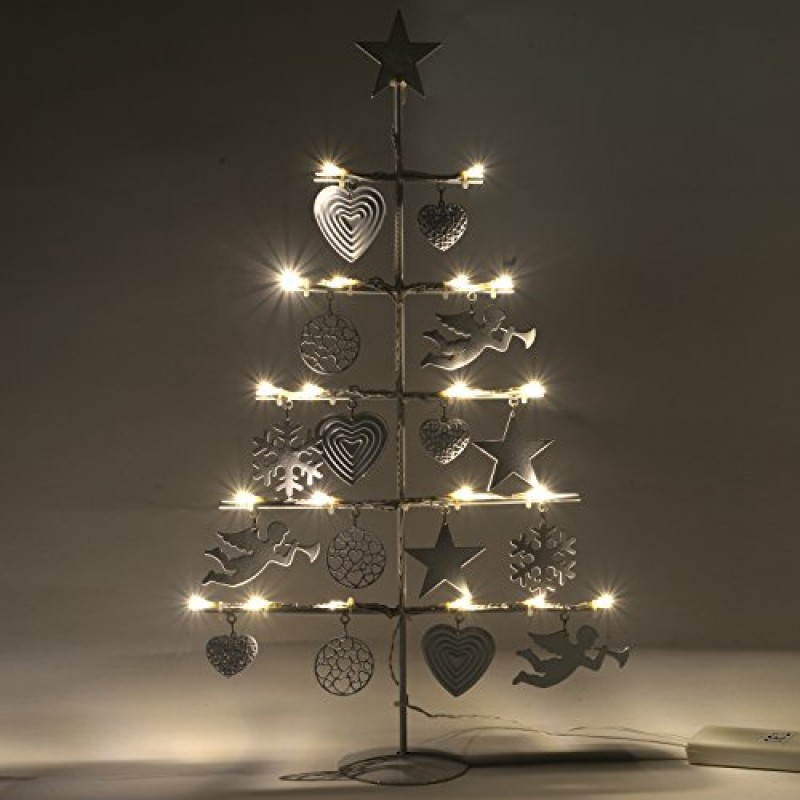 Werchristmas Albero Di Natale Con 21 Luci Led Bianco