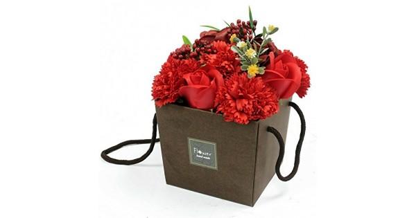 Bagno Romantico San Valentino : Bouquet di rose e garofano sapone fragranza profumato bagno petali