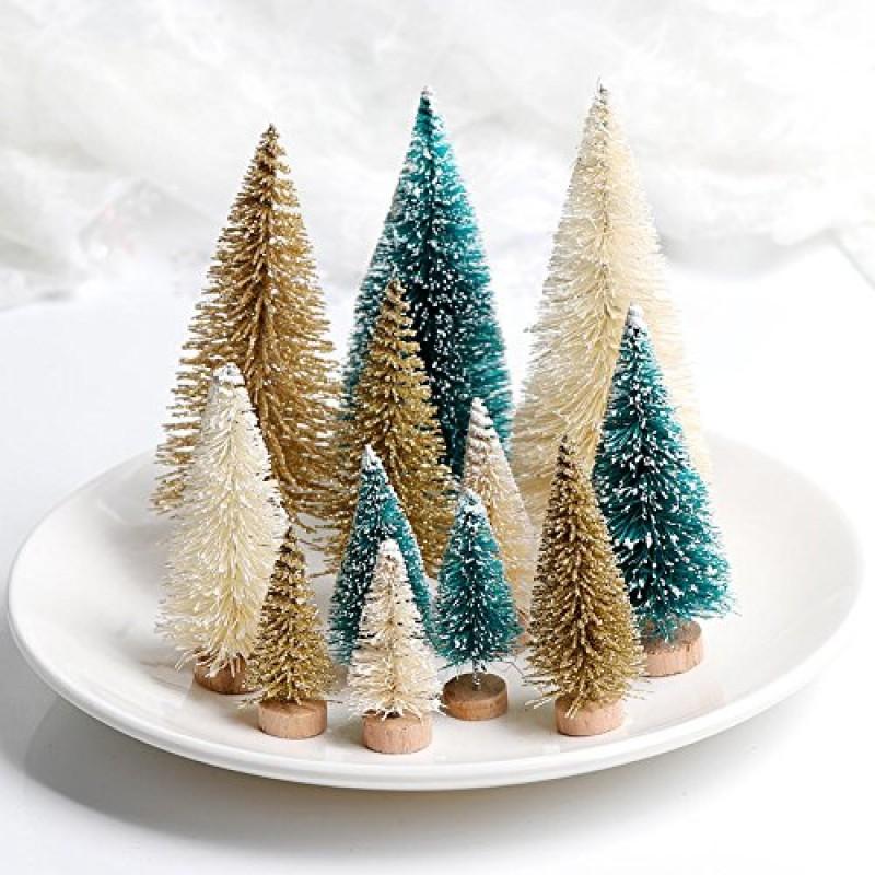 Aerwo 24 pz 3 colori 4 taglie mini alberi di natale - Colori per natale ...