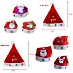 AimdonR Cappelli Natalizi per Bambini e Adulti, Cappello con Decorazione Natalizia con luci Colorate a LED Cappelli Invernali Cappello da Babbo Nat...