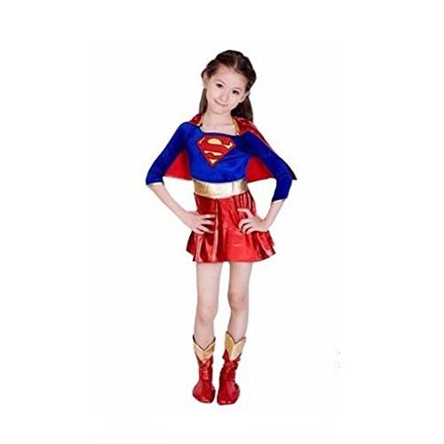 Abito Libro Giorno Supergirl supereroe costume di Halloween per bambini 10-12 anni