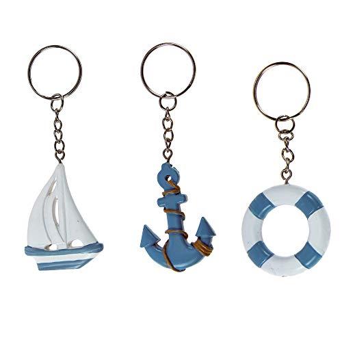 Alice's decorations Portachiavi Linea Mare Assortiti Confezione da 18 pz