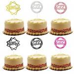 Allazone 24 Pz Buon Compleanno Torta Topper, Happy Birthday Cake Topper, Serie di Torta di Compleanno Forniture Decorazioni