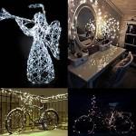 5M stringa fata luce 5m 50 LED String luce per la decorazione casa matrimonio Natale partito Rame filo della lampada anche per Festa, Giardino, Nat...