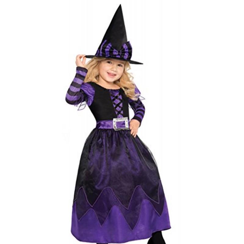 nuovi stili cerca le ultime ampia selezione Amscan, costume da strega per bambine, costume per Halloween