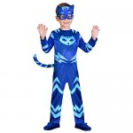 amscan PJMASQUES Costume Pj Mask Cat Boy (3-4 Anni),, 3, 7AM9902952