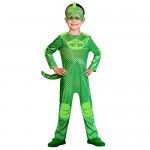 AMSCAN PJMASQUES Costume PJ Mask Gekko (7-8 Anni),, 7, 7AM9902958