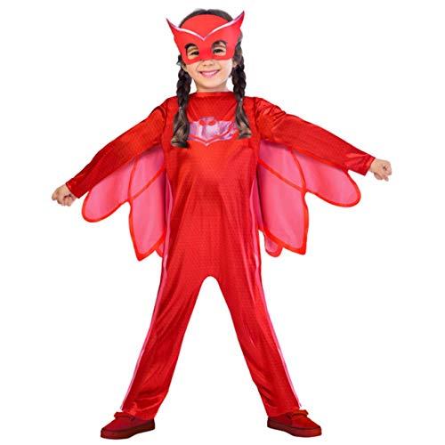 AMSCAN PJMASQUES Costume PJ Mask Owlette (2-3 Anni),, 24 Mesi, 7AM9902947
