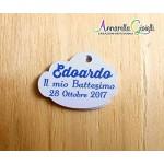 Cartellini nuvoletta personalizzati, 30x40 mm, bigliettini bomboniere, NUVOLA, tag, etichette,matrimonio, battesimo, comunione, cresima