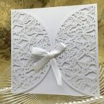 Anself 10pcs romantico matrimonio invitazione busta delicato inciso butterlies schema