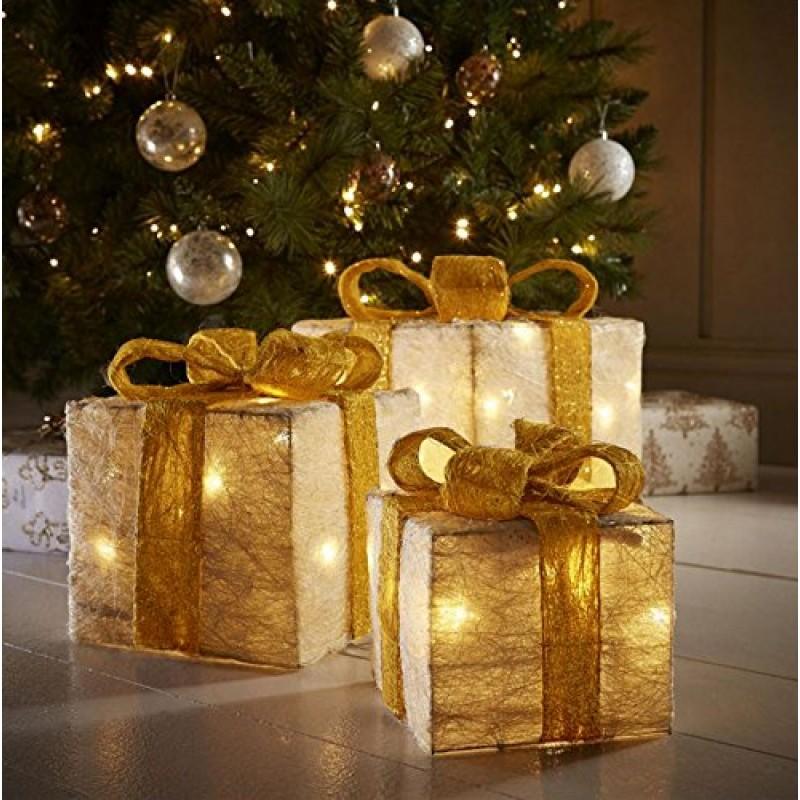 Scatole Per Regali Di Natale.Decorativi Led Cofanetti Regalo Regali Di Natale Decorazioni