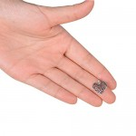 100pz Pendenti Ciondoli Colore Argento Antico Tibetani per Gioielli Fai da Te Collane Bracciali Bomboniere Cuore 14 * 17mm