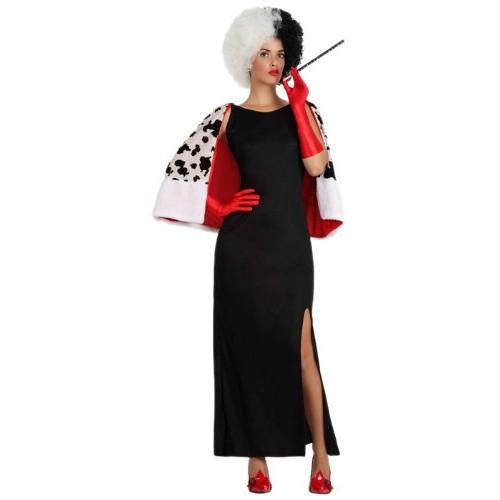 Atosa 8422259157151 - Costume da Crudelia de Mon Adulto, taglia: 42 - 44