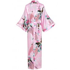 BABEYOND Vestaglia Kimono Donna Kimono Donna Lungo Pigiama Kimono Donna Vestaglia Kimono Raso con Cintura (Rosa)